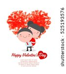 happy valentine's day greeting... | Shutterstock .eps vector #525193576