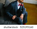 handsome groom in a wedding... | Shutterstock . vector #525195160