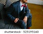 handsome groom in a wedding... | Shutterstock . vector #525195160