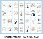 vector big collection of hand... | Shutterstock .eps vector #525203560