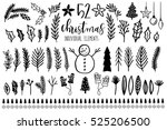 collection of vintage merry... | Shutterstock .eps vector #525206500