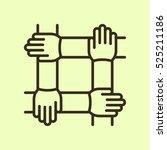 teamwork handshake minimalistic ... | Shutterstock .eps vector #525211186