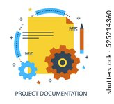 infographic flat design concept ... | Shutterstock .eps vector #525214360