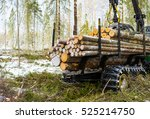the harvester working in a...   Shutterstock . vector #525214750