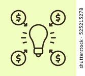 crowdfunding minimalistic flat...   Shutterstock .eps vector #525215278