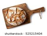 freshly baked bread on wooden... | Shutterstock . vector #525215404