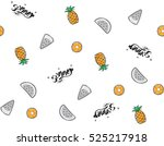 seamless pattern  pineapple and ... | Shutterstock .eps vector #525217918