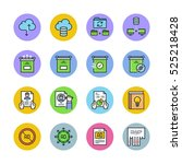 multimedia icons | Shutterstock .eps vector #525218428