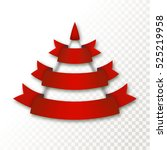 vector red christmas tree made... | Shutterstock .eps vector #525219958