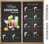 menu classic alcohol cocktails... | Shutterstock .eps vector #525226816