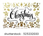chic and luxury christmas... | Shutterstock .eps vector #525232033