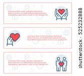simple banners set of charity ...   Shutterstock .eps vector #525232888