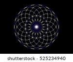flower of life. sacred geometry.... | Shutterstock .eps vector #525234940