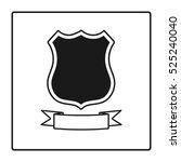 shield icon in trendy flat...