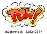 comic explosion pow | Shutterstock .eps vector #525242599