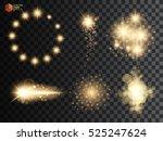 golden glitter bokeh lights and ...   Shutterstock .eps vector #525247624