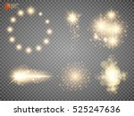 set. shining star  the sun... | Shutterstock .eps vector #525247636