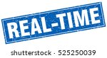 real time. stamp. square grunge ... | Shutterstock .eps vector #525250039