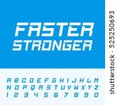 fast strong alphabet font.... | Shutterstock .eps vector #525250693