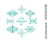 set of aztec style ornaments... | Shutterstock .eps vector #525251458