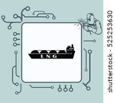 ship icon  lng gas carrier ... | Shutterstock .eps vector #525253630