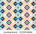 aztec style seamless pattern... | Shutterstock .eps vector #525254806