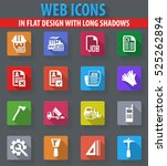 job web icons in flat design... | Shutterstock .eps vector #525262894