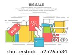 sale banner concept with bag ... | Shutterstock .eps vector #525265534
