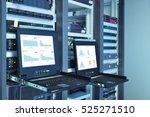 monitor show graph information...   Shutterstock . vector #525271510