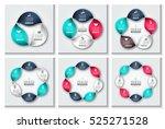 vector spiral infographic.... | Shutterstock .eps vector #525271528