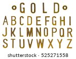 Gold Font  Retro Style Font...