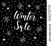 winter sale background with... | Shutterstock .eps vector #525275779