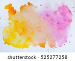 Watercolor Blot Isolated On...