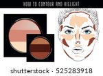 how to contour and highlight.... | Shutterstock .eps vector #525283918