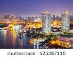 the city of chaopraya river... | Shutterstock . vector #525287110