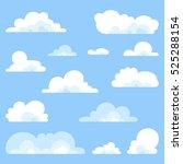 fluffy clouds vector set  ... | Shutterstock .eps vector #525288154