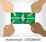 profit sharing | Shutterstock .eps vector #525288454
