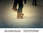 ice skating rink  fun and... | Shutterstock . vector #525292960