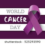 world cancer day concept.... | Shutterstock .eps vector #525293590