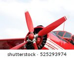 Red Retro Airplane  Pilot's...