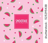 watermelon background. swatch... | Shutterstock .eps vector #525295438
