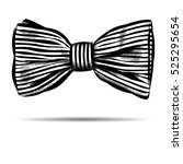 hand drawn bow with striped. ... | Shutterstock . vector #525295654
