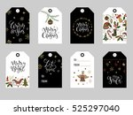 collection of gold  red and... | Shutterstock .eps vector #525297040