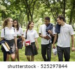 diversity students friends... | Shutterstock . vector #525297844
