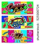 set of christmas sale banner | Shutterstock .eps vector #525300724