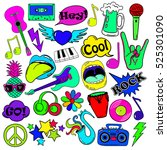 colorful fun set of music... | Shutterstock .eps vector #525301090