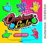 christmas sale banner template  ... | Shutterstock .eps vector #525301414