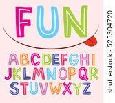 vector fun color font for kids.   Shutterstock .eps vector #525304720