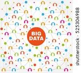 big data abstract molecule...   Shutterstock .eps vector #525306988