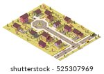 isometric map of the small town ... | Shutterstock .eps vector #525307969